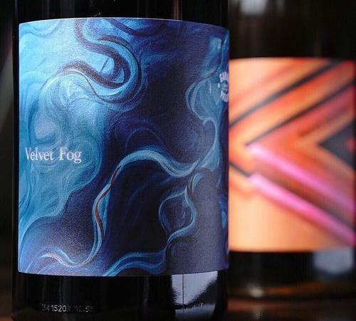 Isabella Young. Velvet Fog. 2018. Wine Label for Garage Project.